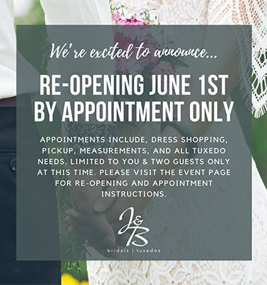 J & B re-opening June 1st